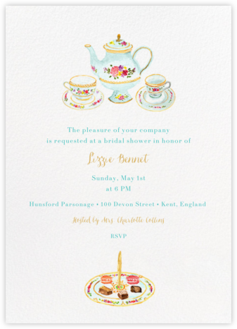 Petits Fours Secs - Paperless Post - Bridal shower invitations