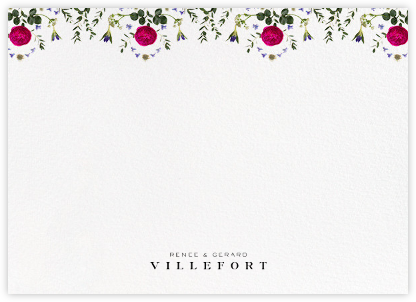 Damascena (Stationery) - White - Paperless Post - Personalized Stationery