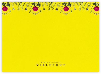 Damascena (Stationery) - Yellow - Paperless Post -