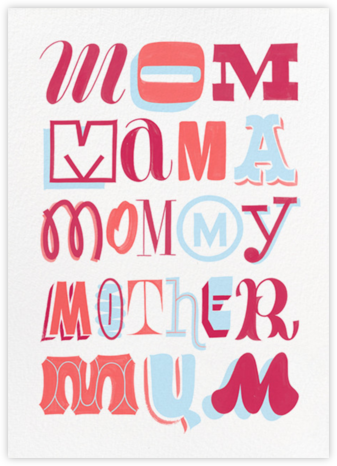 Mother's Day Typography - Paperless Post - Mother's Day Cards