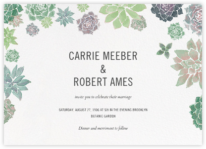 Echeveria (Invitation) - Paperless Post - Wedding invitations