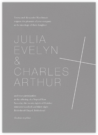 Faithful (Invitation) - Gray - Paperless Post - Wedding Invitations