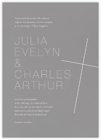Faithful (Invitation) - Gray - Paperless Post -