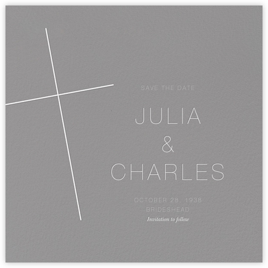 Faithful (Save the Date) - Gray | null