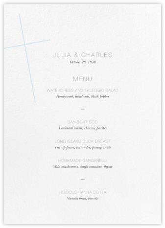 Faithful (Menu) - Glacier - Paperless Post - Wedding menus and programs - available in paper