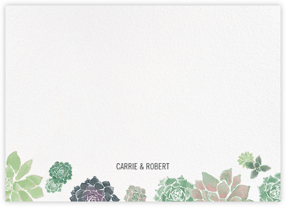 Echeveria (Stationery) - Paperless Post - Personalized Stationery