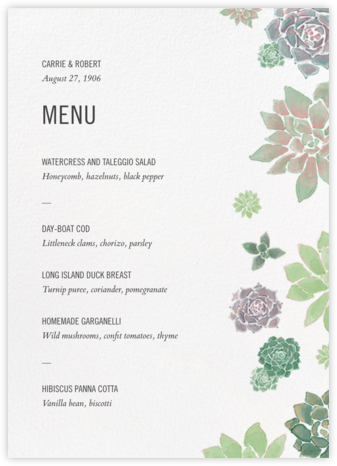 Echeveria (Menu) - Paperless Post - Wedding menus and programs - available in paper