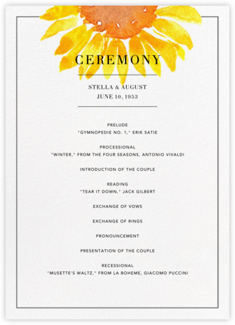 Heirloom (Program) - Paperless Post - Wedding menus and programs - available in paper