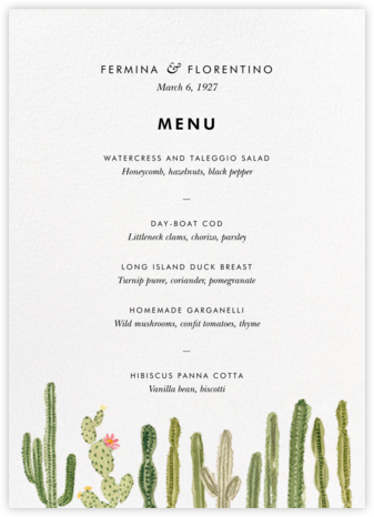 Sonora (Menu) - Paperless Post - Wedding menus and programs - available in paper