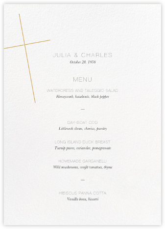 Faithful (Menu) - Apricot - Paperless Post - Wedding menus and programs - available in paper