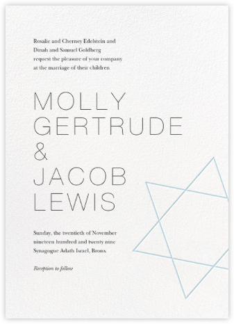 Nissuin (Invitation) - Glacier - Paperless Post - Wedding Invitations