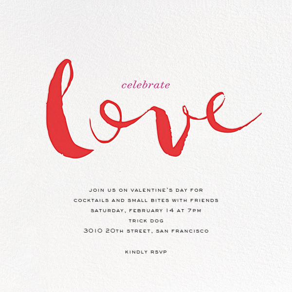 Lavish Love - Red - bluepoolroad - bluepoolroad invitations and cards