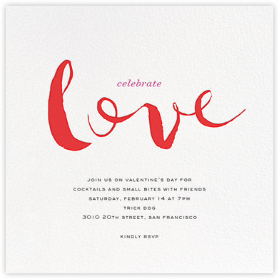 Lavish Love - Red - bluepoolroad - bluepoolroad invitations and cards