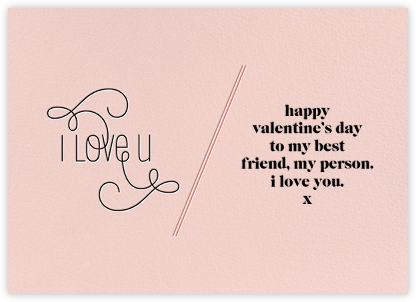 I Love U - Pink - bluepoolroad - Valentine's day cards