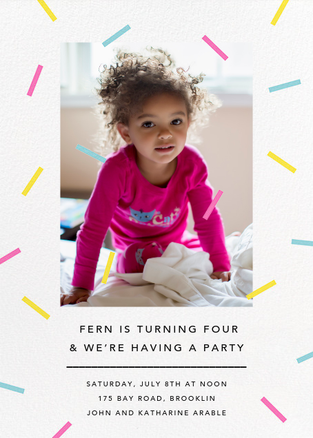 Confection (Photo) - Multi - Paperless Post - Kids' birthday invitations