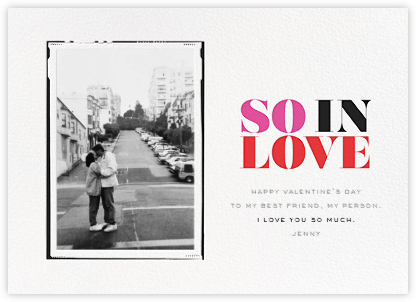 So in Love (Photo) - Red - bluepoolroad - bluepoolroad invitations and cards