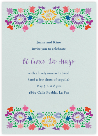 Oaxacan (Tall) - Eucalyptus - Paperless Post - Summer Party Invitations