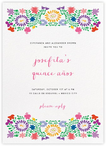 Oaxacan (Tall) - White - Paperless Post - Sweet 16 invitations