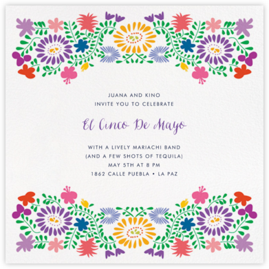 Oaxacan (Square) - White - Paperless Post - Cinco de Mayo Invitations