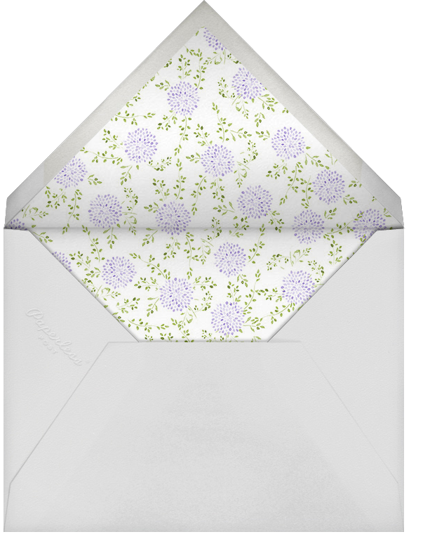 Dahlias (Thank You) - Purple - Paperless Post - Personalized stationery - envelope back