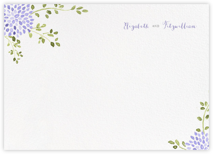 Dahlias (Thank You) - Purple - Paperless Post - Personalized Stationery
