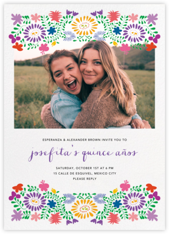 Oaxacan (Photo) - White - Paperless Post - Sweet 16 invitations