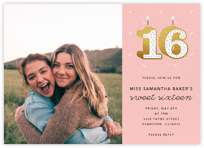 Sixteen Candles (Photo) - Paperless Post - Sweet 16 invitations