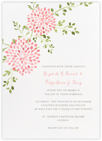 Dahlias (Tall) - Pink - Paperless Post - Wedding invitations