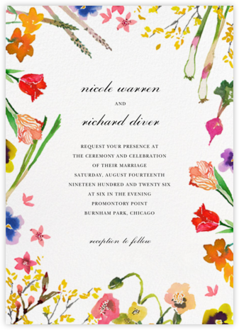 Spring Market (Invitation) - Happy Menocal - Online Wedding Invitations