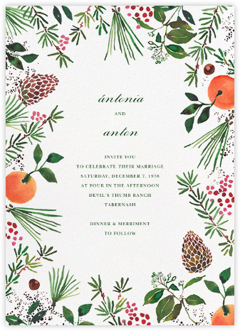 Holiday Market (Invitation) - Happy Menocal - Destination wedding invitations
