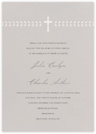 Lamina II (Invitation) - Oyster - Paperless Post - Wedding Invitations