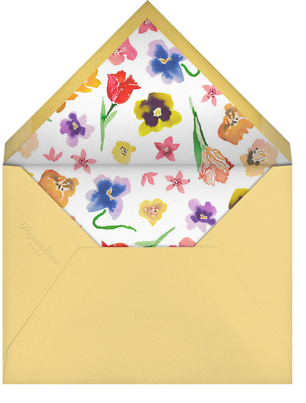 Spring Market (Stationery) - Happy Menocal - Personalized stationery - envelope back