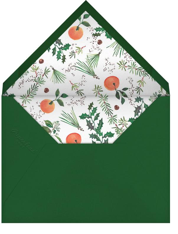 Holiday Market (Stationery) - Happy Menocal - Personalized stationery - envelope back