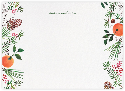 Holiday Market (Stationery) - Happy Menocal - Personalized Stationery
