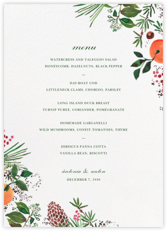 Holiday Market (Menu) | null