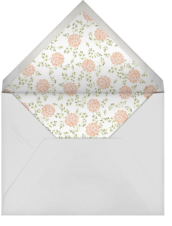 Dahlias (Thank You) - Pumpkin - Paperless Post - Personalized stationery - envelope back