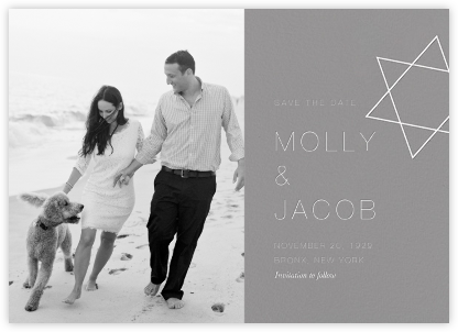Nissuin (Photo Save the Date) - Gray - Paperless Post - Modern save the dates