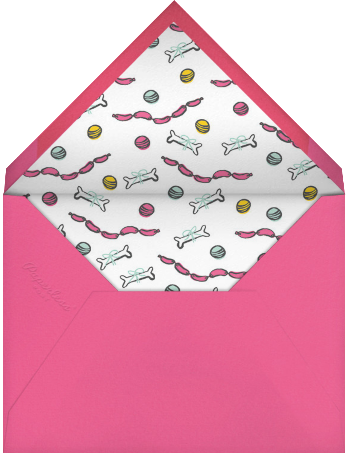 Woof Woof - Pink - Hello!Lucky - Kids' birthday - envelope back