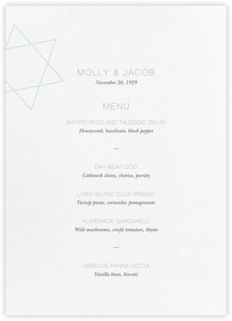 Nissuin (Menu) - Glacier - Paperless Post - Wedding menus and programs - available in paper