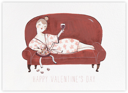 Burgundy and Chocolate (Kelsey Garrity Riley) - Red Cap Cards - Valentine's day cards