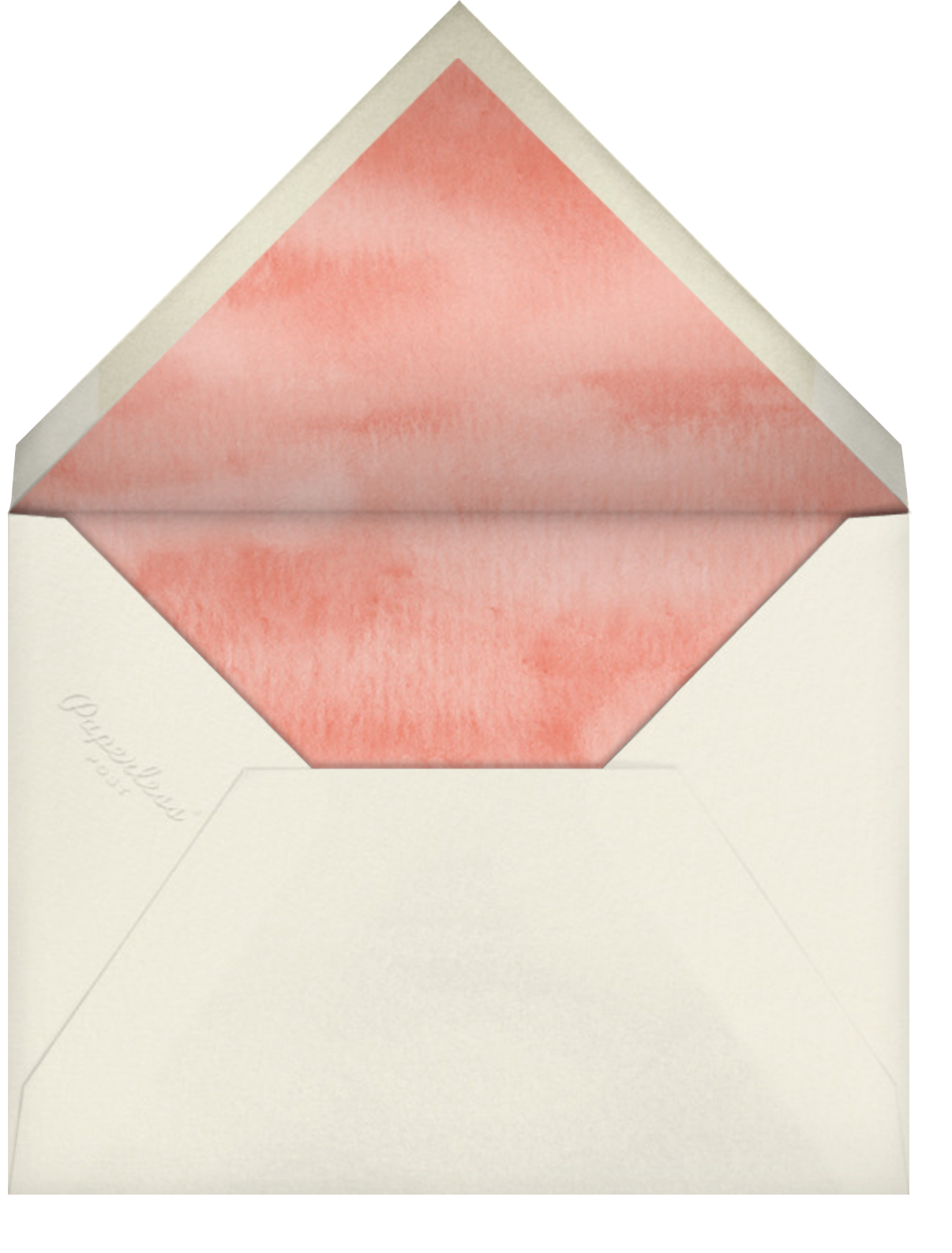 Peony Blossoms - Felix Doolittle - Mother's Day - envelope back
