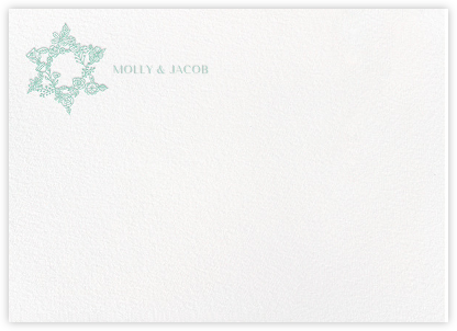 Nitzan II (Stationery) - Celadon - Paperless Post - Personalized Stationery