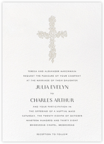 Thérèse II (Invitation) - White - Paperless Post -