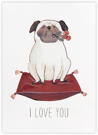 Pug Love (Kelsey Garrity Riley) - Red Cap Cards - Valentine's Day Cards