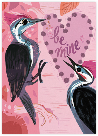 Woodpecker Love (Meg Hunt) - Red Cap Cards - Valentine's day cards
