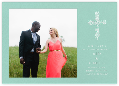 Thérèse II (Photo Save the Date) - Celadon - Paperless Post -
