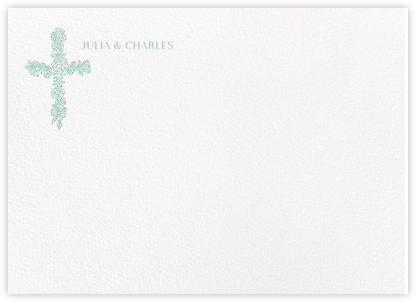 Thérèse II (Stationery) - Celadon - Paperless Post - Personalized Stationery