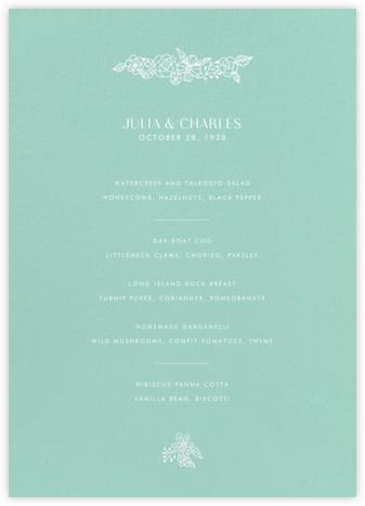 Thérèse II (Menu) - Celadon - Paperless Post - Wedding menus and programs - available in paper