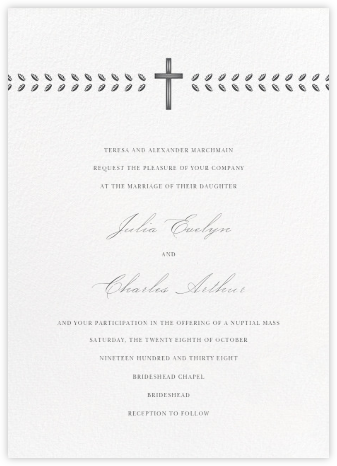 Lamina II (Invitation) - Charcoal - Paperless Post - Wedding Invitations