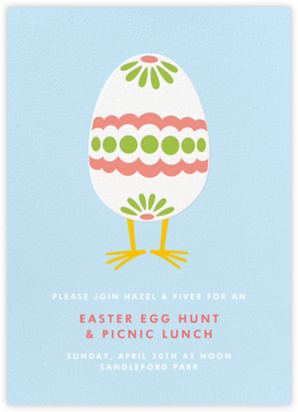 Easter Egg Chick (Invitation) - Paperless Post - Invitations